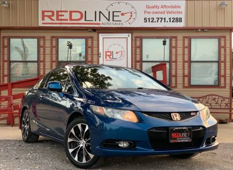 2013 Honda Civic for sale at REDLINE AUTO SALES LLC in Cedar Creek TX