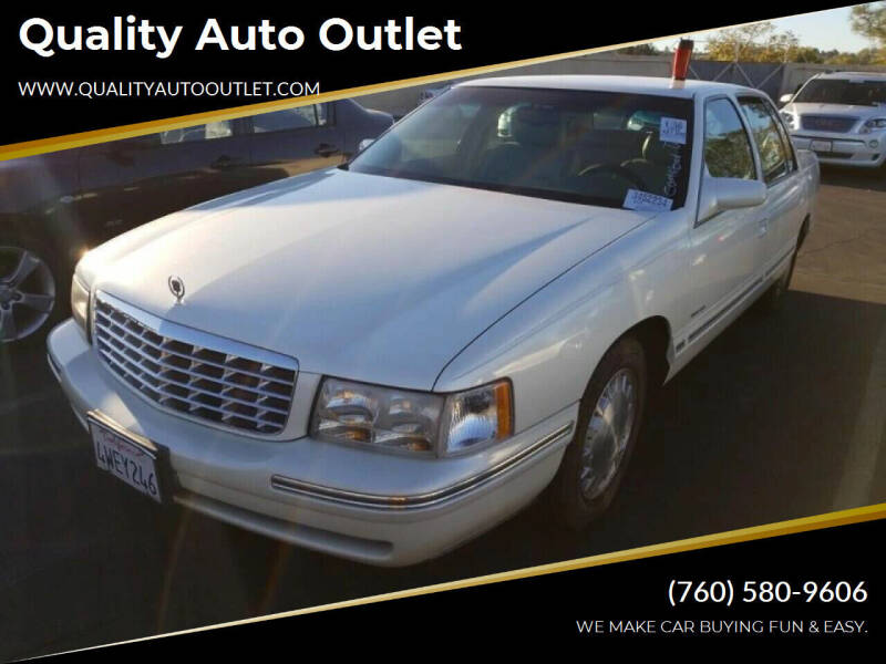 1998 Cadillac DeVille for sale at Quality Auto Outlet in Vista CA