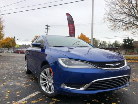 2015 Chrysler 200 for sale at ALHAMADANI AUTO SALES in Spanaway WA