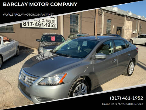 2013 Nissan Sentra for sale at BARCLAY MOTOR COMPANY in Arlington TX