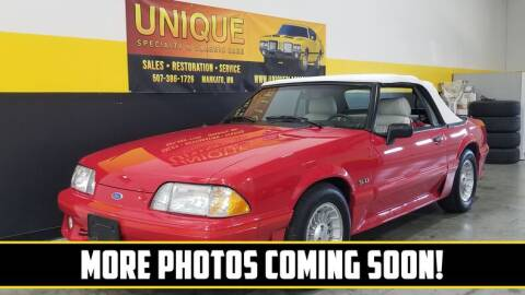 1989 Ford Mustang for sale at UNIQUE SPECIALTY & CLASSICS in Mankato MN