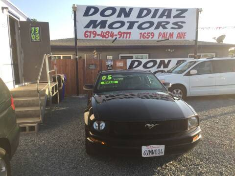 2005 Ford Mustang for sale at DON DIAZ MOTORS in San Diego CA