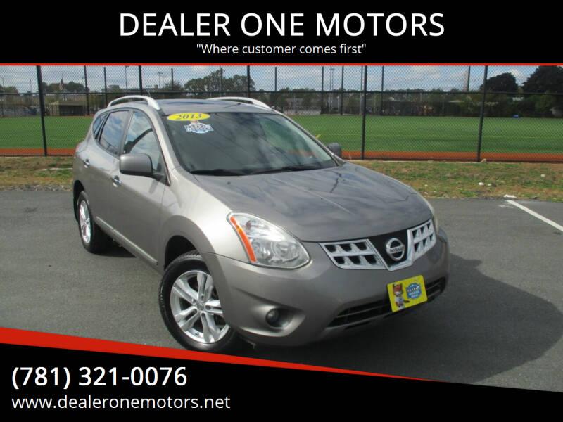 2013 Nissan Rogue for sale at DEALER ONE MOTORS in Malden MA