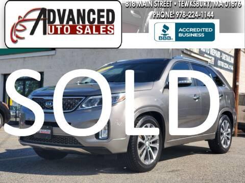 2014 Kia Sorento for sale at Advanced Auto Sales in Tewksbury MA