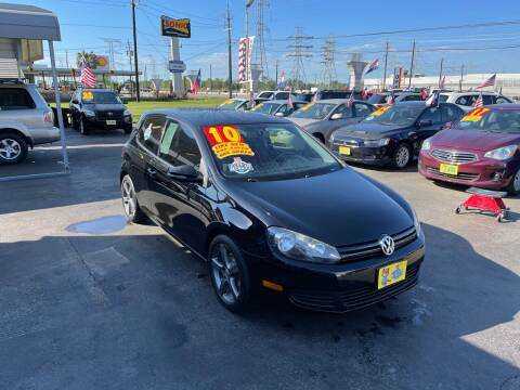 2010 Volkswagen Golf for sale at Texas 1 Auto Finance in Kemah TX