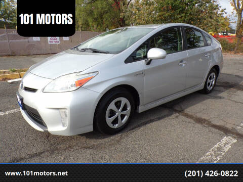 2012 Toyota Prius for sale at 101 MOTORS in Hasbrouck Heights NJ