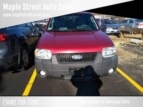 2007 Ford Escape for sale at Maple Street Auto Sales in Bellingham MA