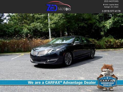 2015 Lincoln MKZ Hybrid for sale at Zed Motors in Raleigh NC