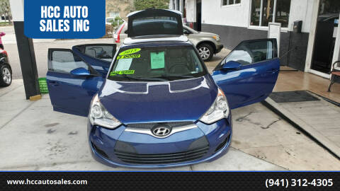 2015 Hyundai Veloster for sale at HCC AUTO SALES INC in Sarasota FL