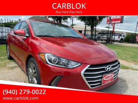 2017 Hyundai Elantra for sale at CARBLOK in Lewisville TX