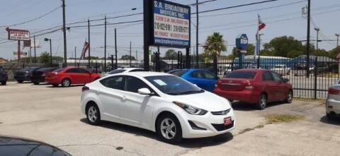 2015 Hyundai Elantra for sale at S.A. BROADWAY MOTORS INC in San Antonio TX