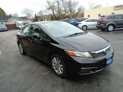2012 Honda Civic for sale at DISCOVER AUTO SALES in Racine WI