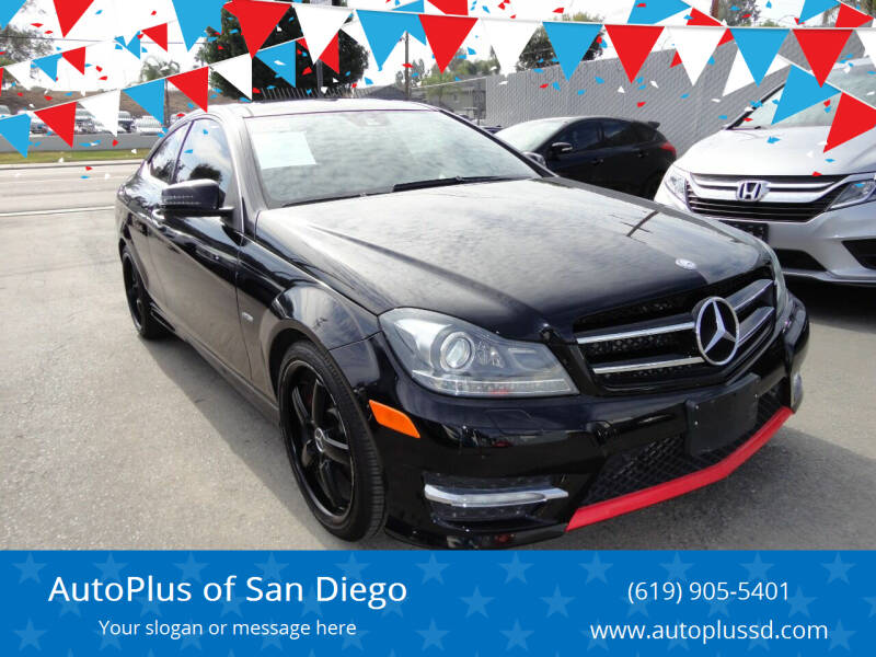 2013 Mercedes-Benz C-Class for sale at AutoPlus of San Diego in Spring Valley CA