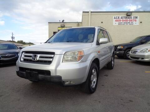 2008 Honda Pilot for sale at ACH AutoHaus in Dallas TX