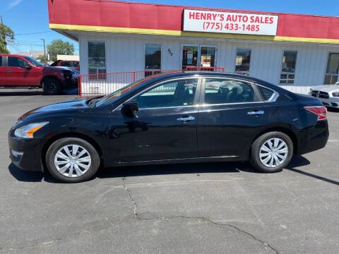 2014 Nissan Altima for sale at Henry's Autosales, LLC in Reno NV