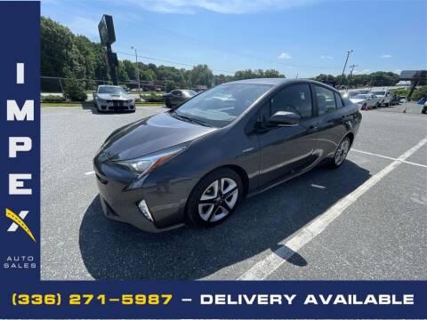 2018 Toyota Prius for sale at Impex Auto Sales in Greensboro NC