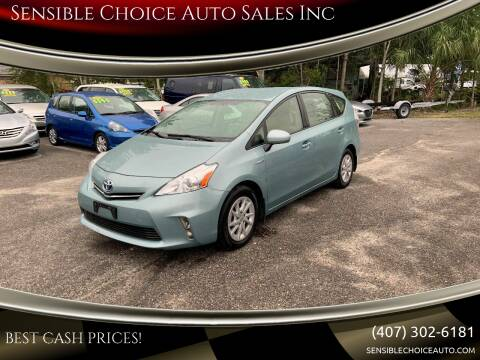 2014 Toyota Prius v for sale at Sensible Choice Auto Sales, Inc. in Longwood FL