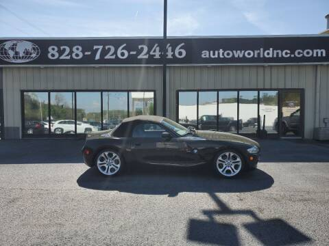 2005 BMW Z4 for sale at AutoWorld of Lenoir in Lenoir NC