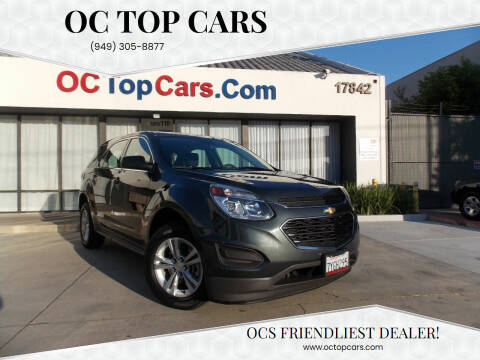 2017 Chevrolet Equinox for sale at OC Top Cars in Irvine CA