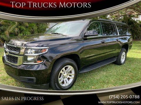 2016 Chevrolet Suburban for sale at Top Trucks Motors in Pompano Beach FL