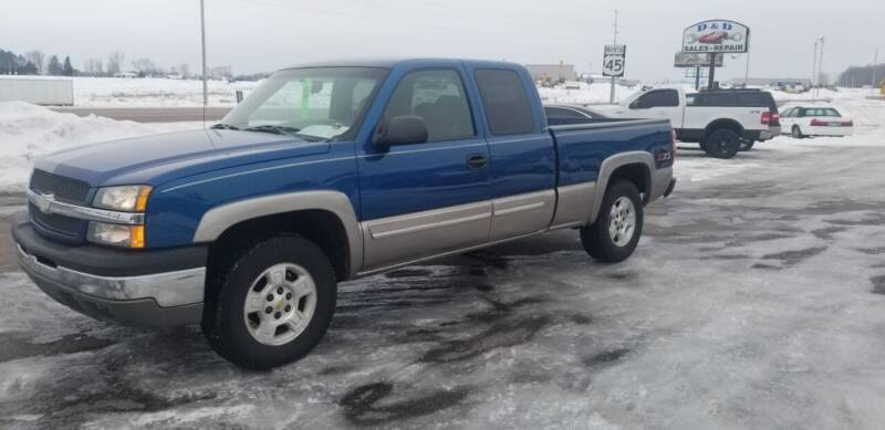2003 Chevrolet Silverado 1500 for sale at D AND D AUTO SALES AND REPAIR in Marion WI