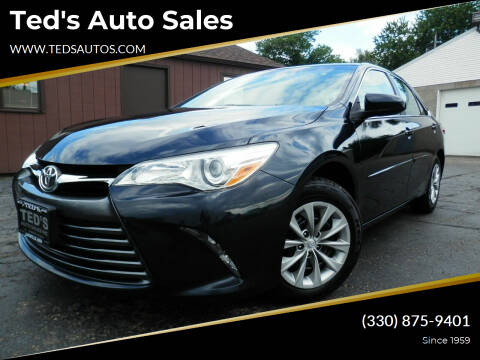 2015 Toyota Camry for sale at Ted's Auto Sales in Louisville OH
