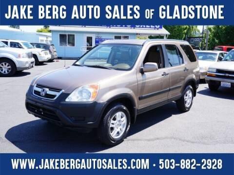 2002 Honda CR-V for sale at Jake Berg Auto Sales in Gladstone OR