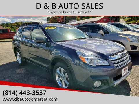2014 Subaru Outback for sale at D & B AUTO SALES in Somerset PA