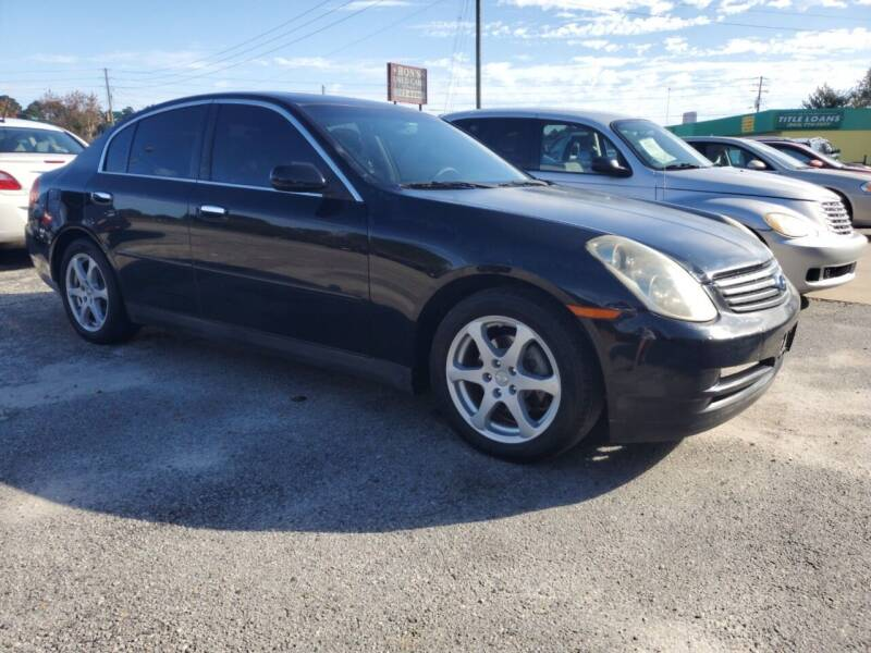 2004 Infiniti G35 for sale at Ron's Used Cars in Sumter SC