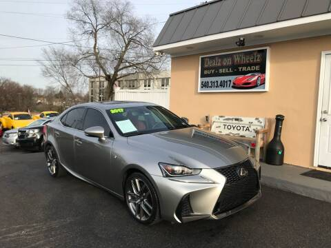 2017 Lexus IS 200t for sale at DEALZ ON WHEELZ in Winchester VA