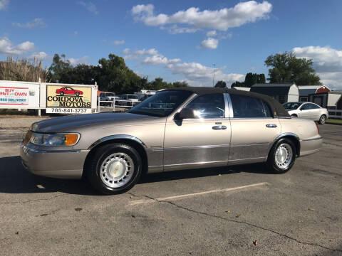 2000 Lincoln Town Car for sale at Cordova Motors in Lawrence KS