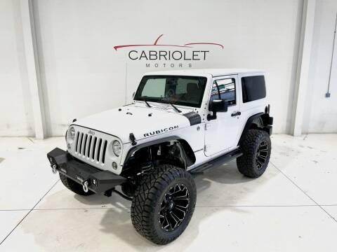 2015 Jeep Wrangler for sale at Cabriolet Motors in Morrisville NC
