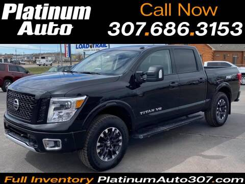 2018 Nissan Titan for sale at Platinum Auto in Gillette WY