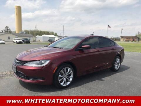 2015 Chrysler 200 for sale at WHITEWATER MOTOR CO in Milan IN