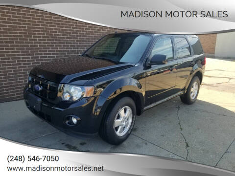 2010 Ford Escape for sale at Madison Motor Sales in Madison Heights MI