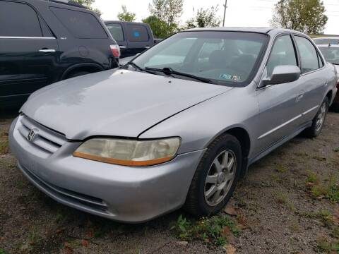 2002 Honda Accord for sale at COLONIAL AUTO SALES in North Lima OH