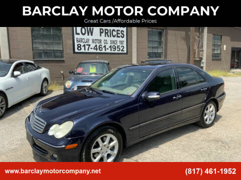 2007 Mercedes-Benz C-Class for sale at BARCLAY MOTOR COMPANY in Arlington TX