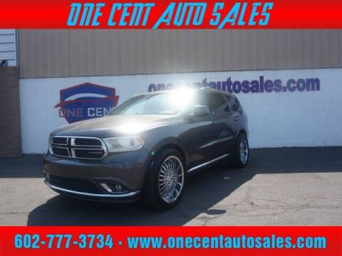 2014 Dodge Durango for sale at One Cent Auto Sales in Glendale AZ