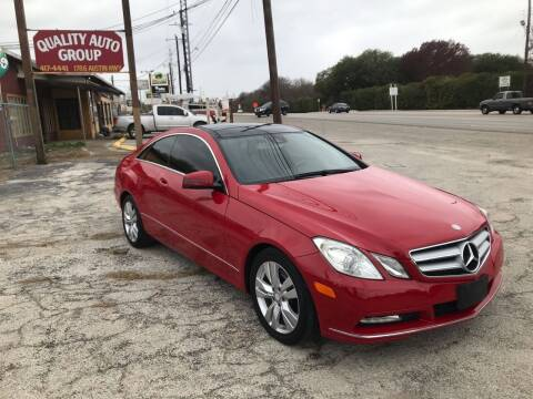 2012 Mercedes-Benz E-Class for sale at Quality Auto Group in San Antonio TX