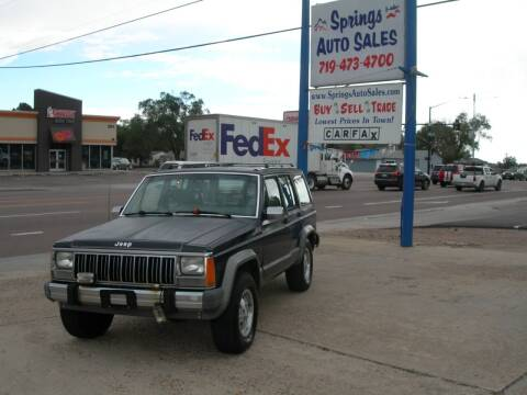 1990 Jeep Cherokee for sale at Springs Auto Sales in Colorado Springs CO