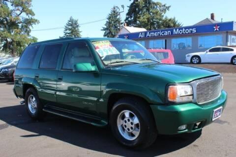 1999 GMC Yukon for sale at All American Motors in Tacoma WA
