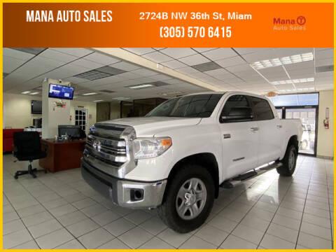 2016 Toyota Tundra for sale at MANA AUTO SALES in Miami FL
