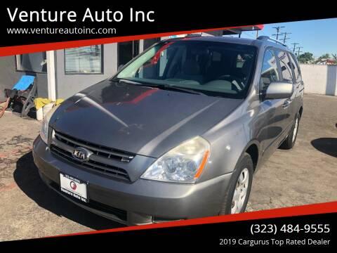 2010 Kia Sedona for sale at Venture Auto Inc in South Gate CA
