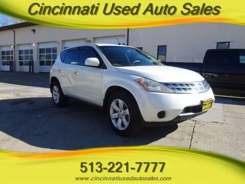 2007 Nissan Murano for sale at Cincinnati Used Auto Sales in Cincinnati OH