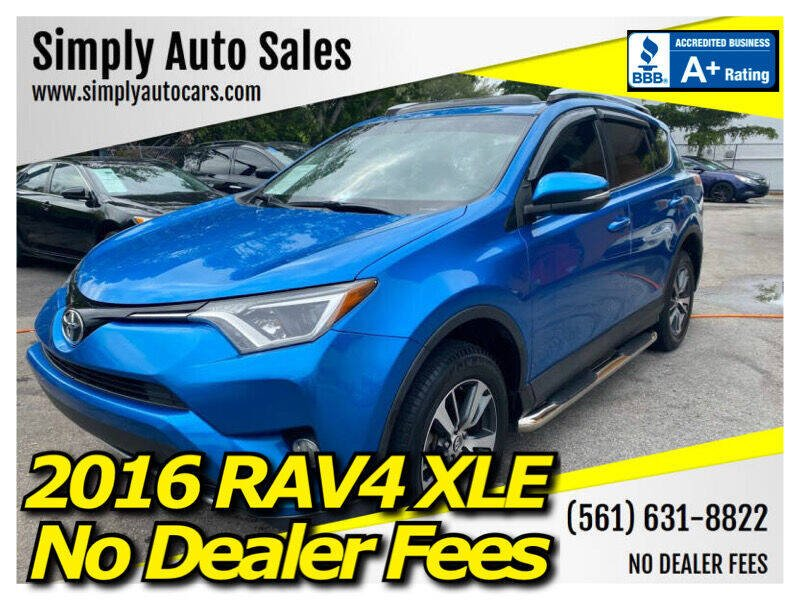 2016 Toyota RAV4 for sale at Simply Auto Sales in Palm Beach Gardens FL