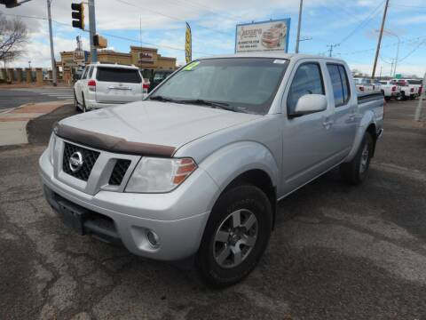 2012 Nissan Frontier for sale at AUGE'S SALES AND SERVICE in Belen NM