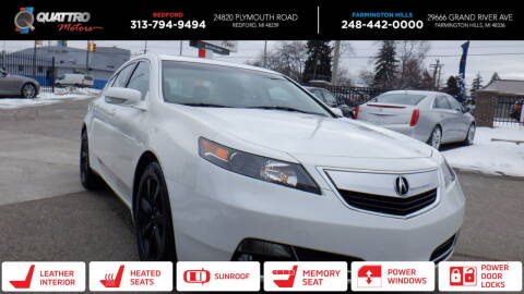 2014 Acura TL for sale at Quattro Motors 2 - 1 in Redford MI