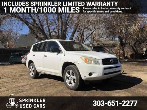2006 Toyota RAV4 for sale at Sprinkler Used Cars in Longmont CO