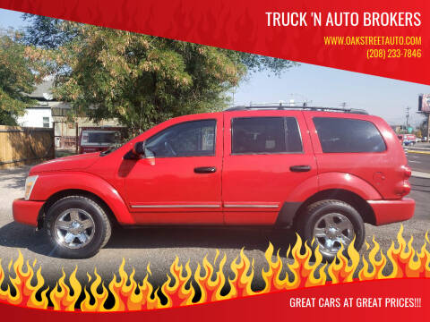 2005 Dodge Durango for sale at Truck 'N Auto Brokers in Pocatello ID