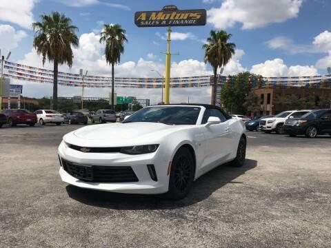2016 Chevrolet Camaro for sale at A MOTORS SALES AND FINANCE in San Antonio TX